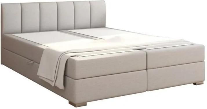 TEMPO KONDELA Riana Komfort 180 čalúnená manželská posteľ svetlosivá