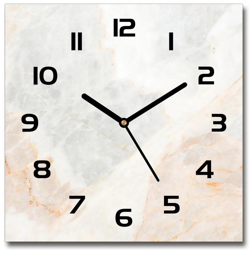 Sklenené nástenné hodiny štvorec Mramor pl_zsk_30x30_f_64380852
