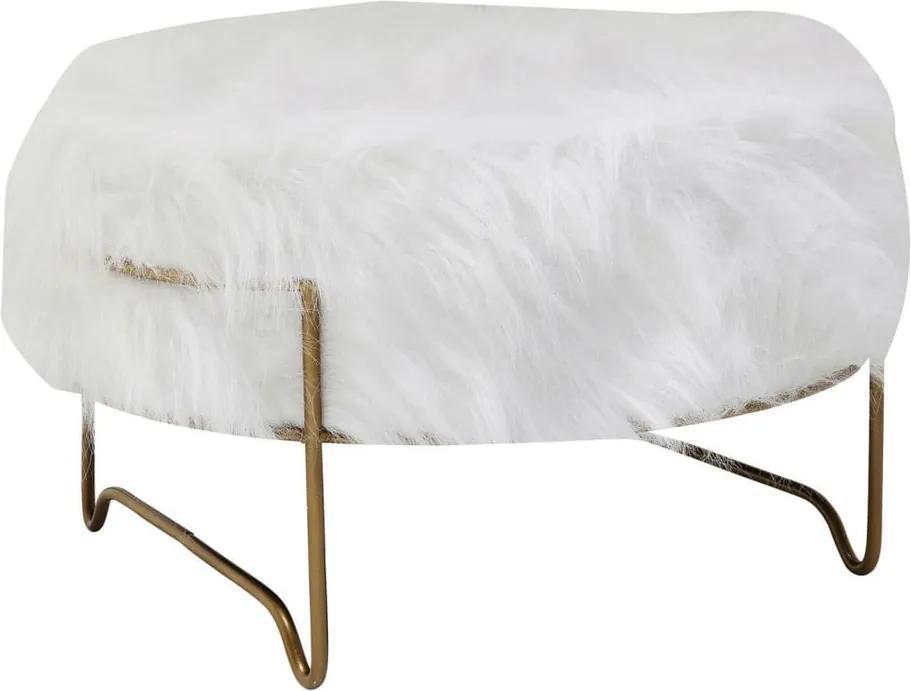 Biela stolička Kare Design Brass, ⌀ 55 cm