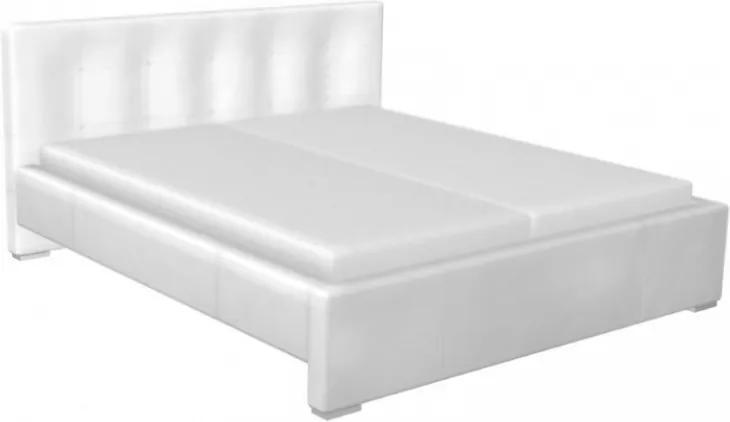Elegantní postel DIAMOND by Marco Barotti, bílá kůže MB00004 Marco Barotti