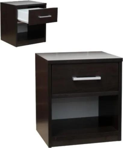 Nočný stolík 1 zásuvka + odkladací priestor - Buk