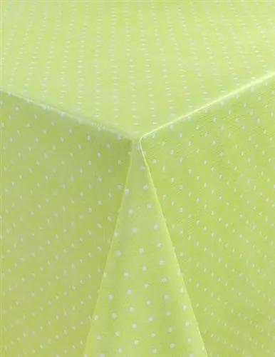 Obrus PVC metráž 573573, šírka 140 cm, bodky zelené, IMPOL TRADE