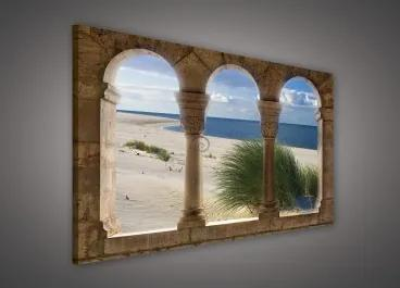 Obraz na plátne obdĺžnik - OB0235 - Oblúky a pláž 100cm x 75cm - O1