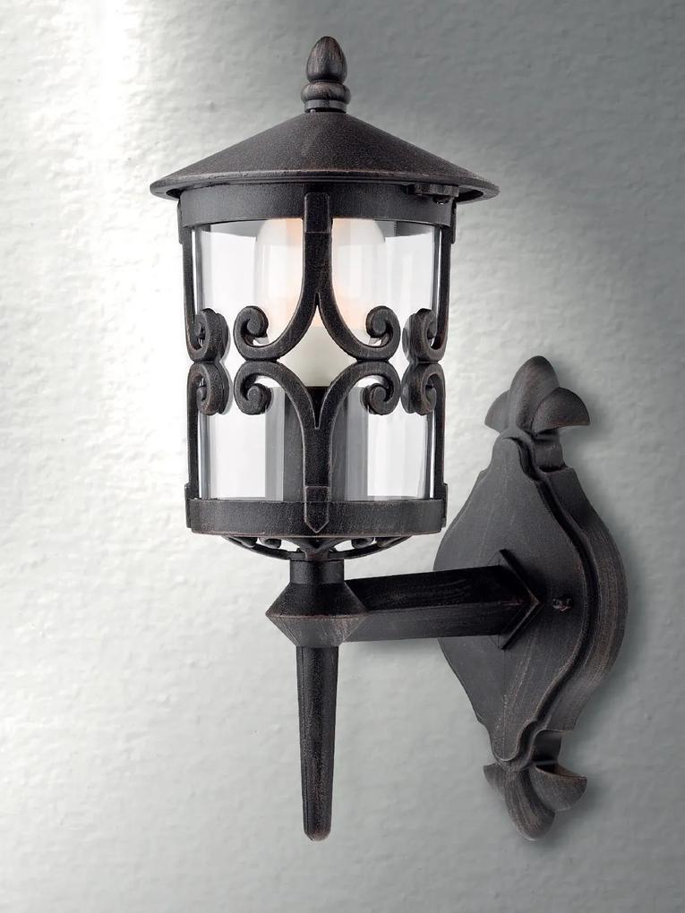 Vonkajšie retro a vintage svietidlo REDO TIROL čierna 9259
