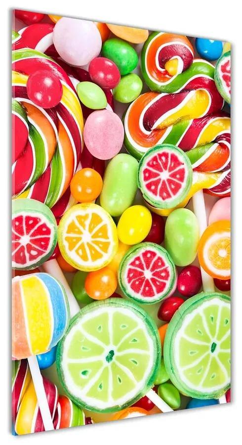 Foto obraz akrylový Farebné cukríky pl-oa-70x140-f-82636061