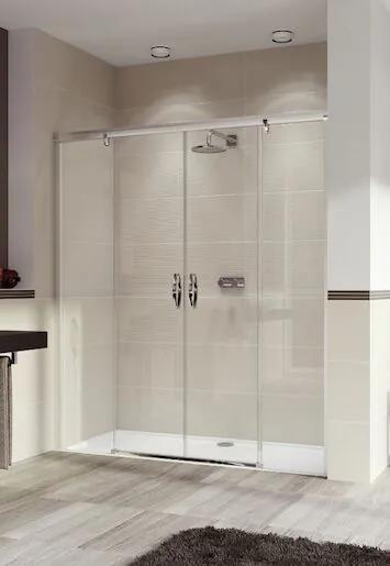 Sprchové dvere Huppe Aura Elegance jednokrídlové 170 cm, sklo číre, chróm profil, pravé 402105.092.322