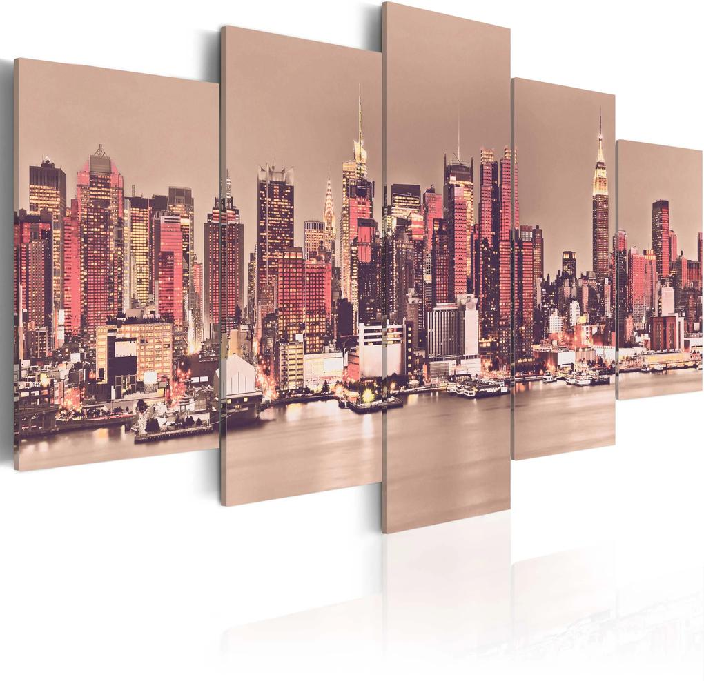 Obraz - NY - The City That Never Sleeps 100x50