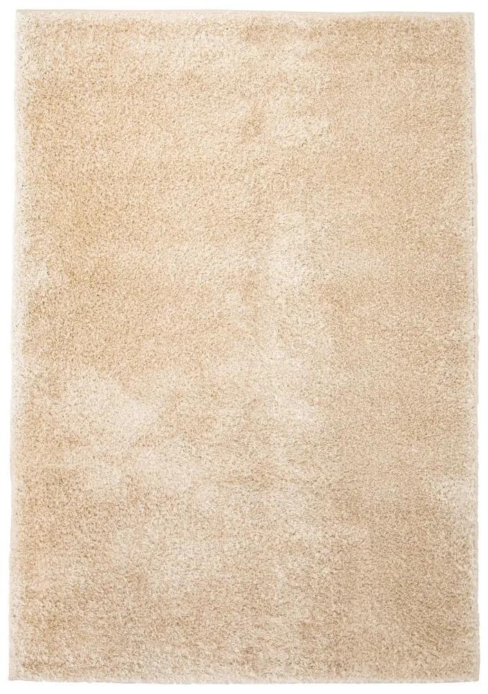 vidaXL Chlpatý koberec, 140x200 cm, béžový