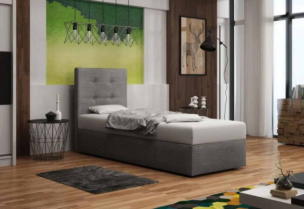 Čalúnená jednolôžková posteľ DUO 1, Cosmic160, 90x200
