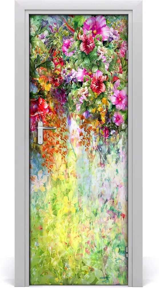 Fototapeta na dveře Barevné květiny
