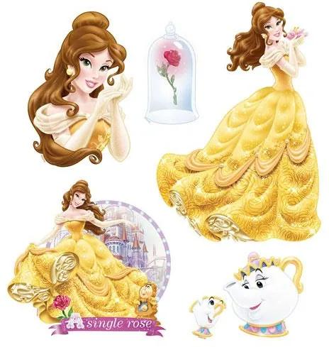 Samolepky na stenu, rozmer 30 x 40 cm, princezna Bella SDC037, SUNNY DECOR