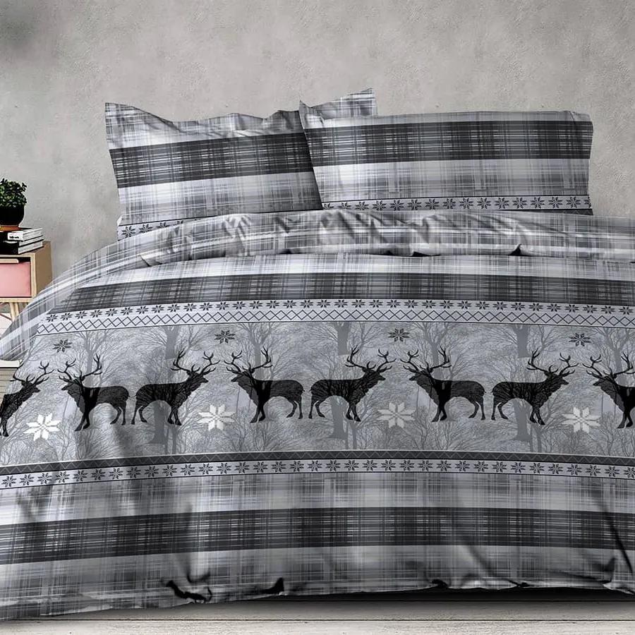 XPOSE® Francúzske bavlnené obliečky BRENDA EXCLUSIVE - sivá