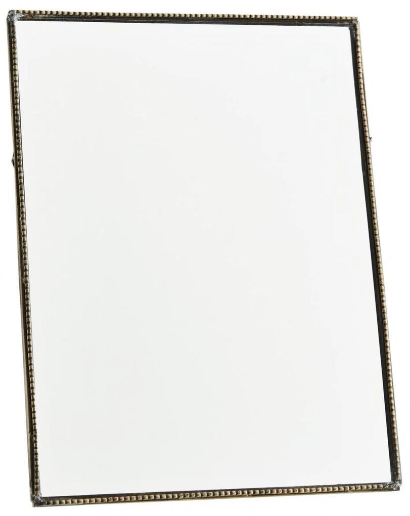 MADAM STOLTZ Stolné zrkadlo s opierkou Antique Brass - na výšku