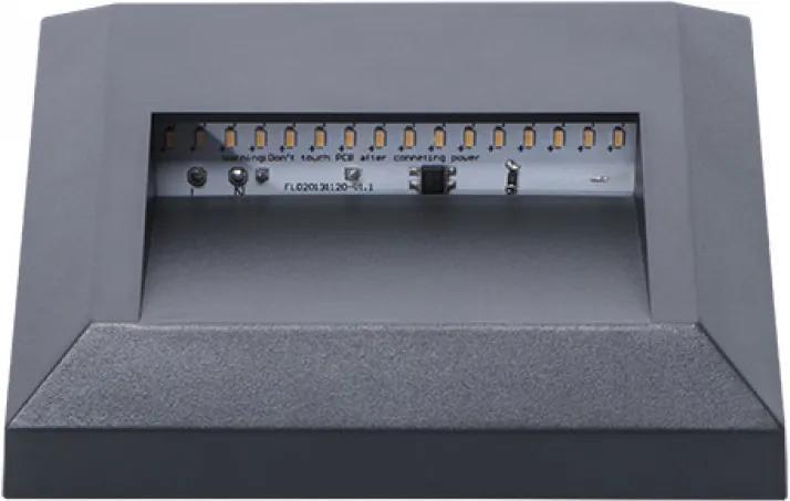 Kanlux Croto 22770 Zápustné Svietidlá do Steny sivý LED - 1 x 1,1W 2,8 x 12,5 x 12,4 cm