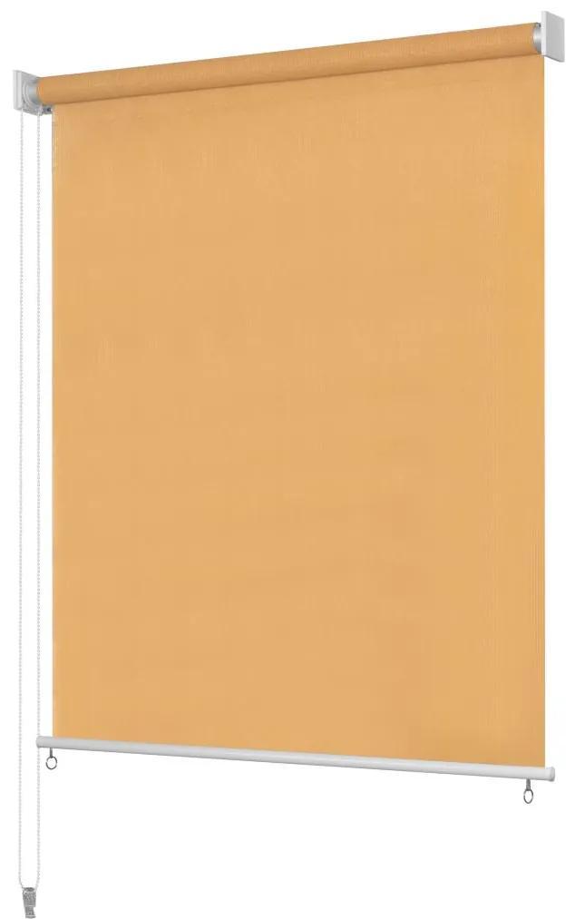 vidaXL Vonkajšia zatemňovacia roleta, 240x140 cm, béžová