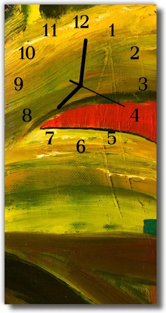 Skleněné hodiny vertikální Umění Barevné umění