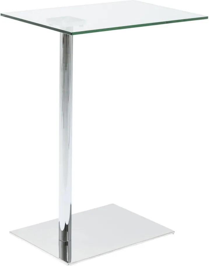 Odkladací stolík v dekore chrómu Kare Design West Coast
