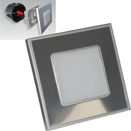 Emithor STEP LIGHT LED 1W,60lm,4000K,STEEL/MIRR