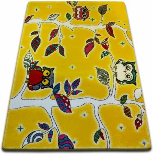 Detský koberec Kids Forest žltý C427 - 120x170 cm