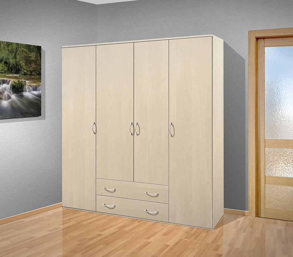 Nabytekmorava šatníková skriňa Alfa 32 farba lamina: breza 1715