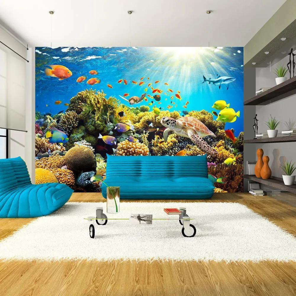 Fototapeta - Underwater land 350x245