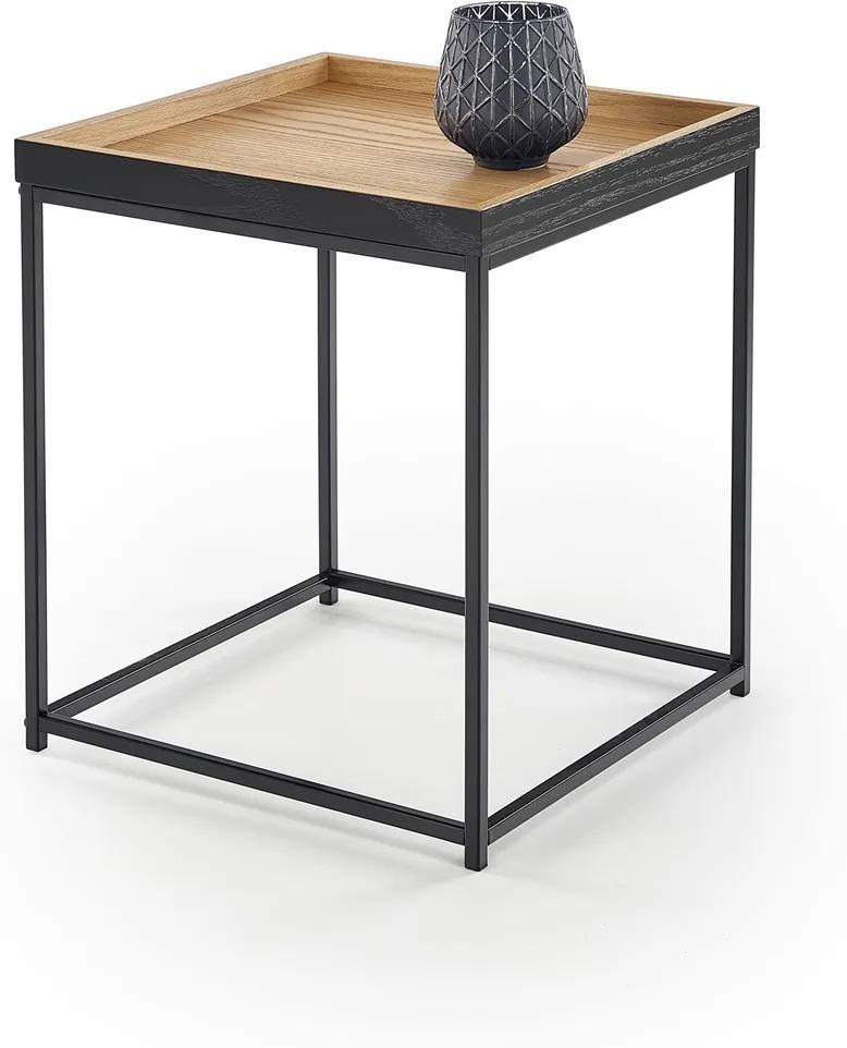 HALMAR Yava konferenčný stolík dub prírodný / čierna