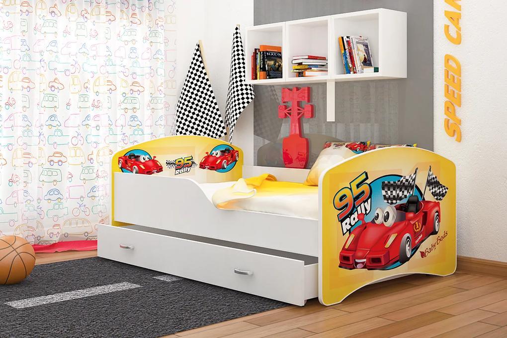 a4ca57f0cf147 ArtAJ Detská obrázková posteľ Igor 140 x 80 farba postele: biela 140 x 80  cm ...