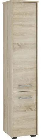 Kúpeľňová skrinka Fin 2 dvierka dub sonoma