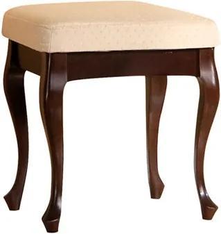 TARANKO Wersal W rustikálna taburetka wenge / béžový vzor (A4 1013)