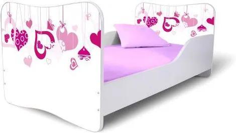 MAXMAX Detská posteľ SRDIEČKA + matrac ZADARMO 160x80 pre dievča NIE