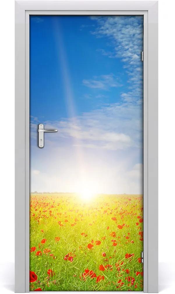 Fototapeta na dveře samolepící Pole máků