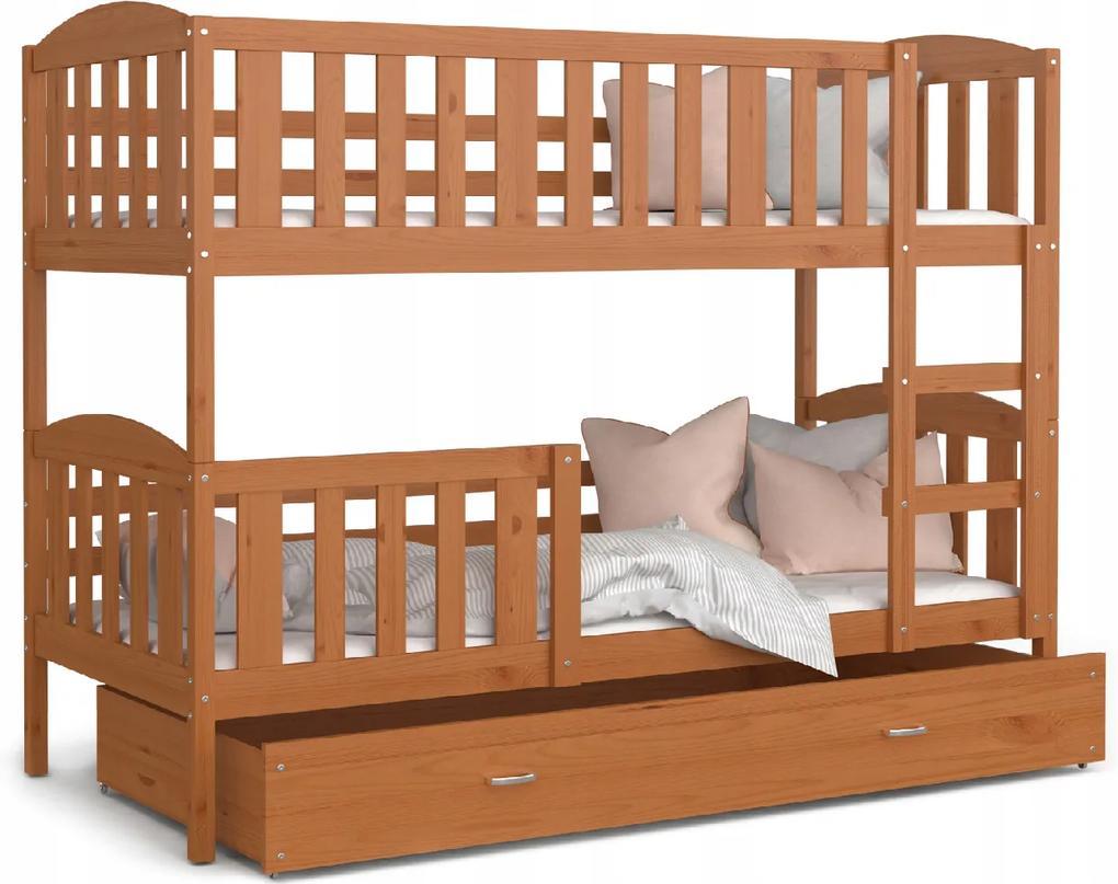 GL Kuba color Jelša poschodová posteľ Rozmer: 190x80