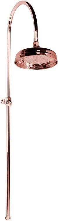 Reitano Antea SET017 sprchový stĺp, hlavová sprcha, bez batérie, ružové zlato