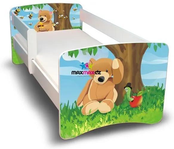 MAXMAX Detská posteľ 180x80 cm bez šuplíku - MACKO II 180x80 pre všetkých NIE