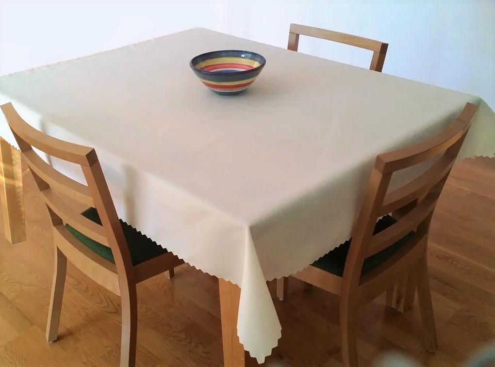Teflónový obrus krémový Rozmer: 140 x 140 cm