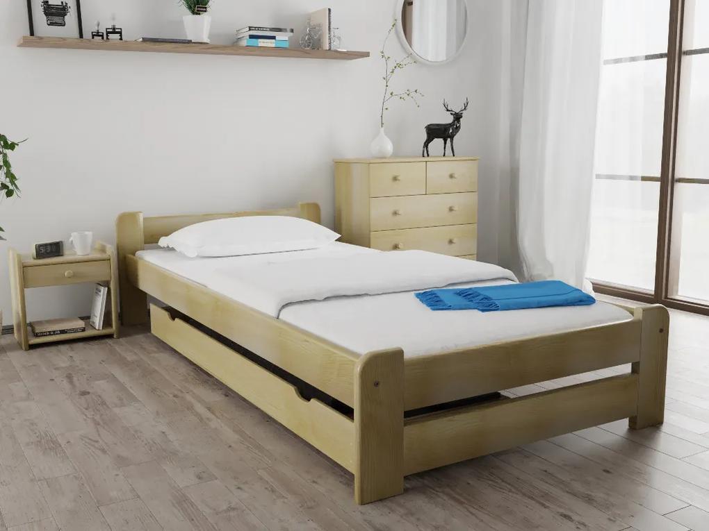 Posteľ Emily 90 x 200 cm, borovica Rošt: S latkovým roštom, Matrac: s matracom DELUXE 15 cm
