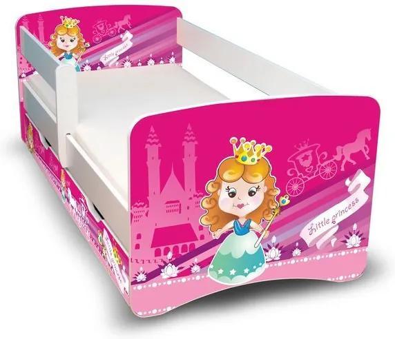 MAXMAX Detská posteľ so zásuvkou 160x80 cm - MALÁ PRINCEZNA II 160x80 pre dievča ÁNO