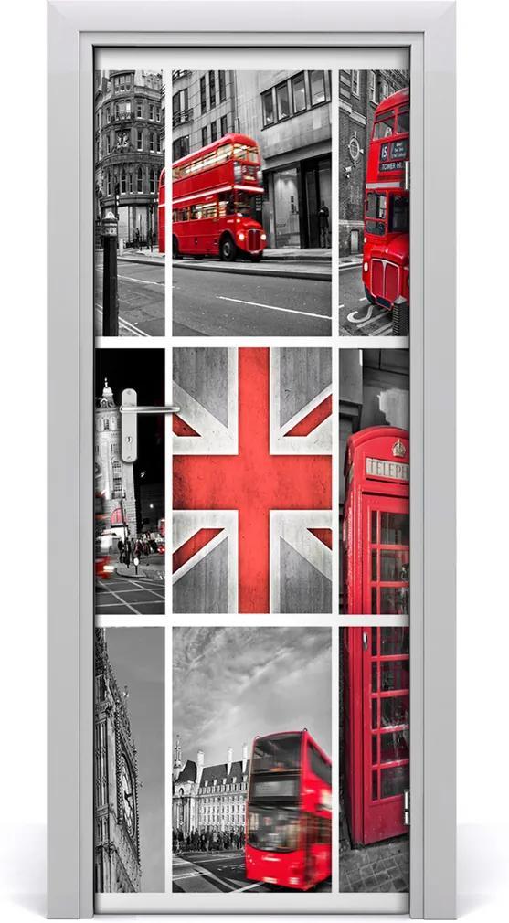 Fototapeta samolepící na dveře Koláž londýn
