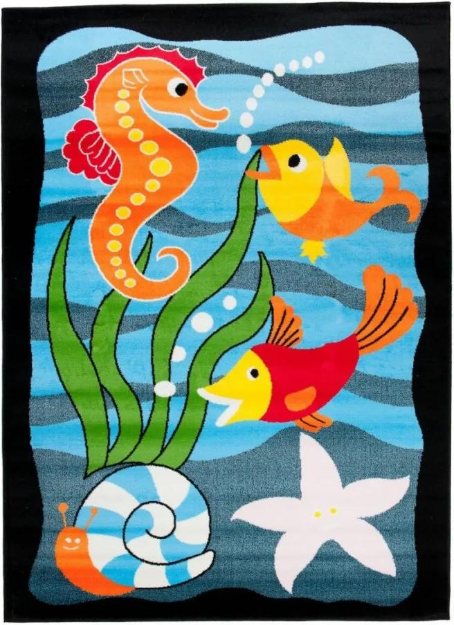 Detský kusový koberec morský svet modrý, Velikosti 300x400cm