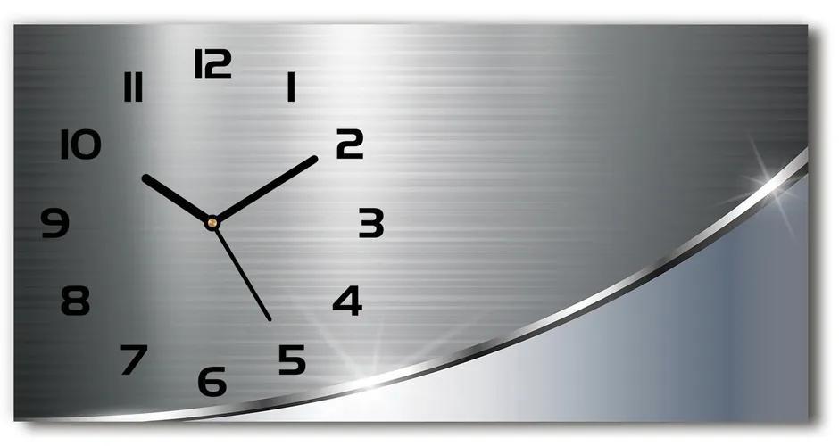 Sklenené hodiny na stenu Kokova abstrakcie pl_zsp_60x30_s_137027012