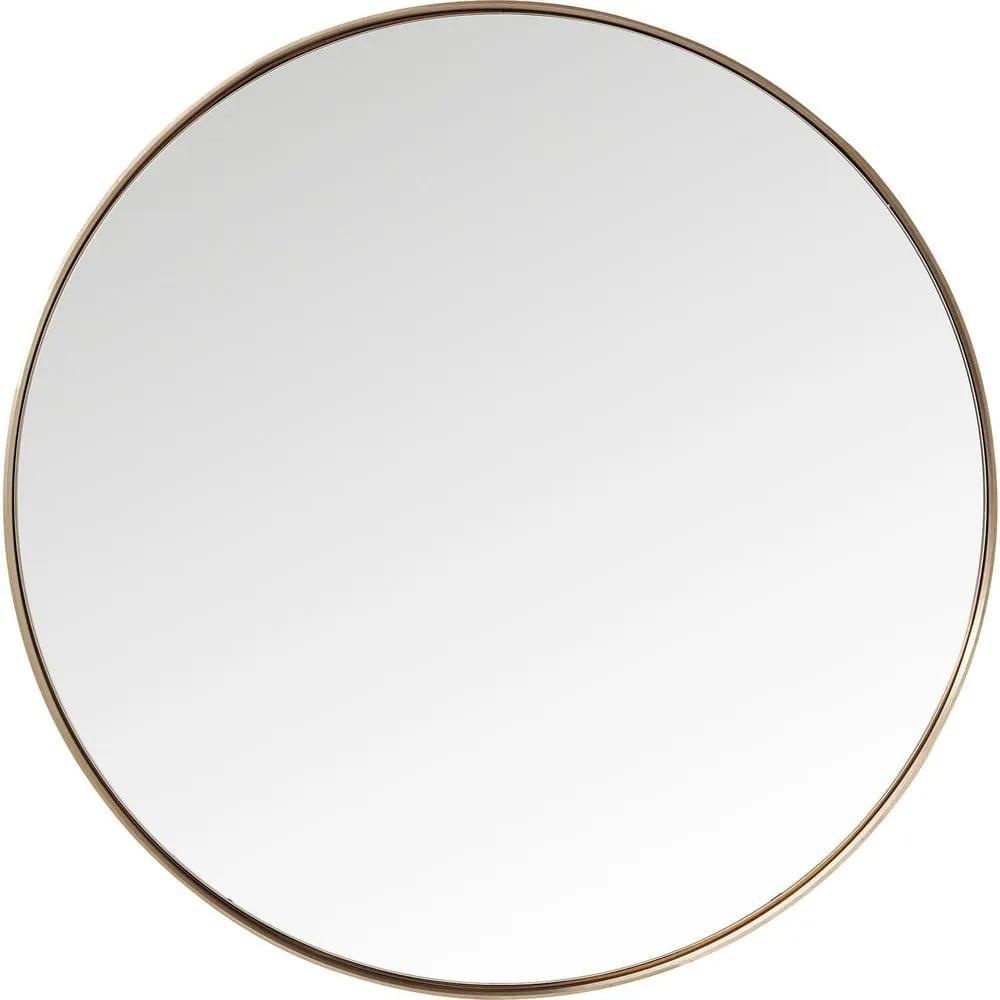 Okrúhle zrkadlo s rámom v medenej farbe Kare Design Round Curve, ⌀ 100 cm