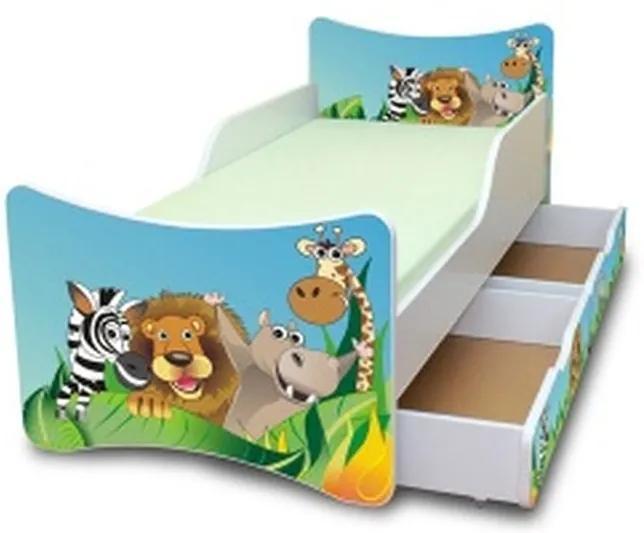 MAXMAX Detská posteľ so zásuvkou 180x90 cm - ZOO 180x90 pre všetkých ÁNO