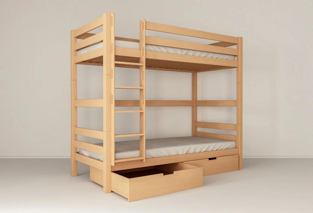 HU Poschodové postele z Buka Oliver 2 200X90 pre dospelých