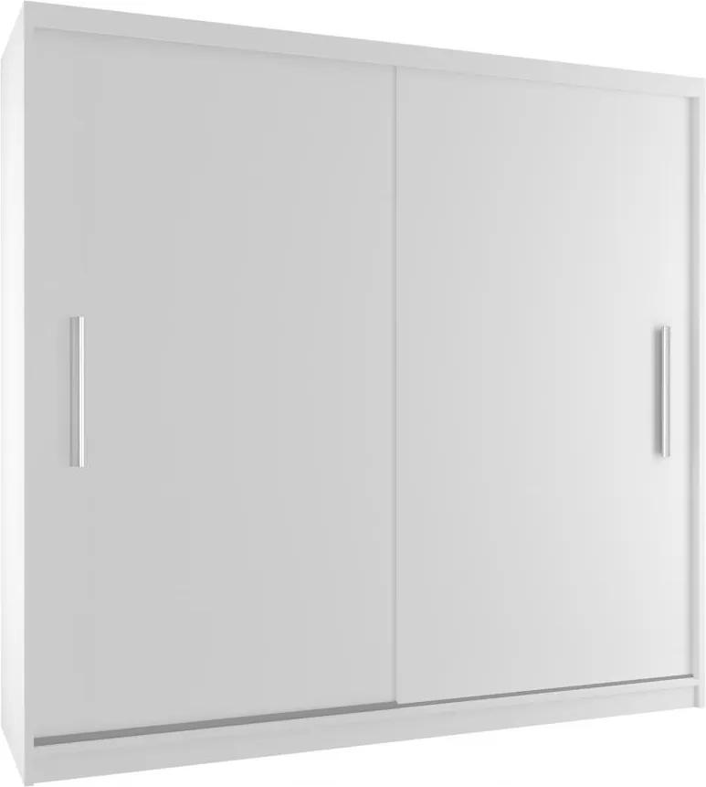 Šatníková skriňa biela s posuvnými dverami Casey 200 cm