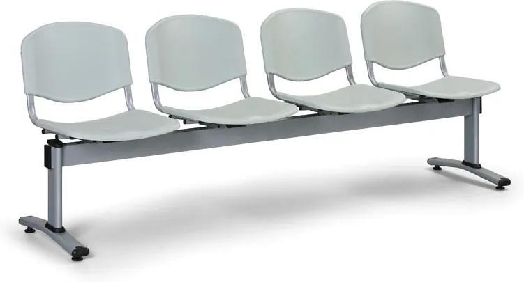 EUROSEAT Plastová lavice do čakární LIVORNO - 4 miesta, sivá