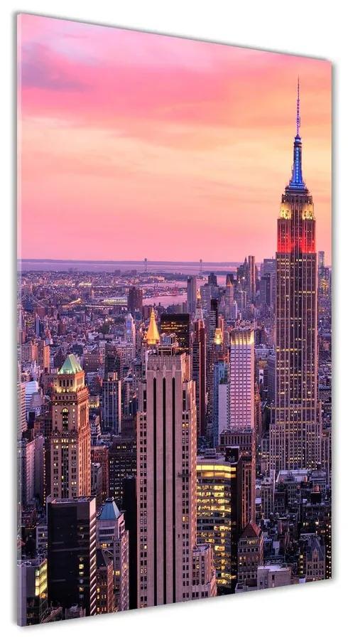 Foto obraz akrylový New York západ slnka pl-oa-70x140-f-89776597