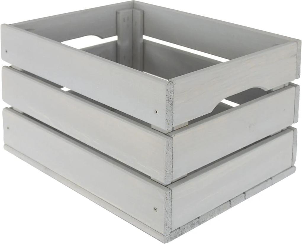 Drevená debnička SD-3-40x30 farebné varianty Povrchová úprava: Sivá
