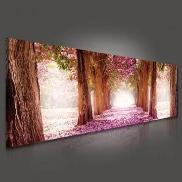 Obraz na plátne panoráma - OB2203 - Ružová alej 145cm x 45cm - O3