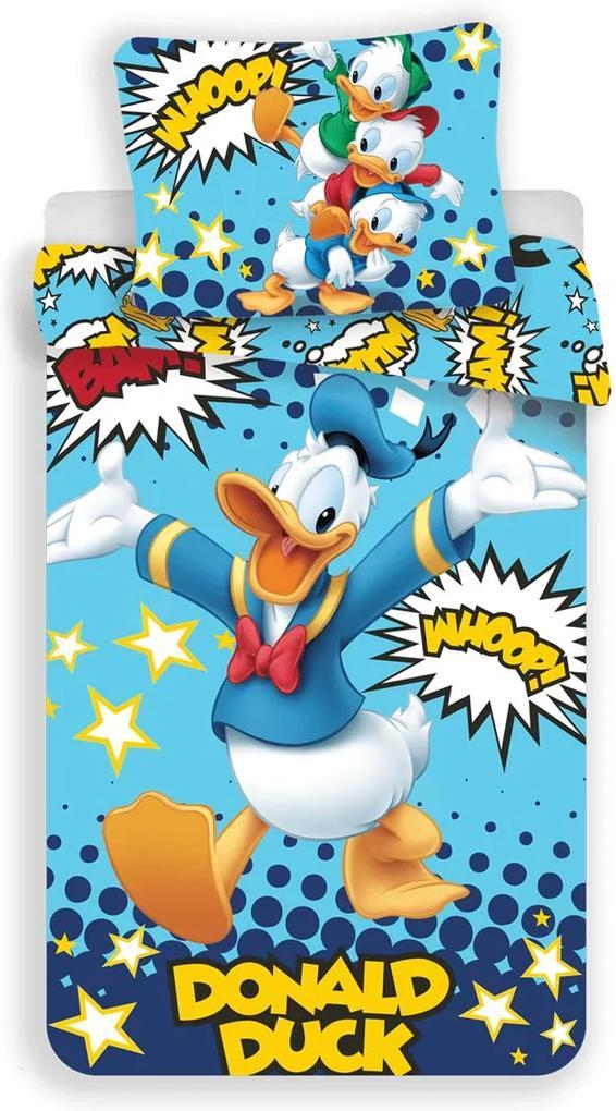 Detské obliečky Kačer Donald 140x200 70x90 cm 100% Bavlna Jerry Fabrics