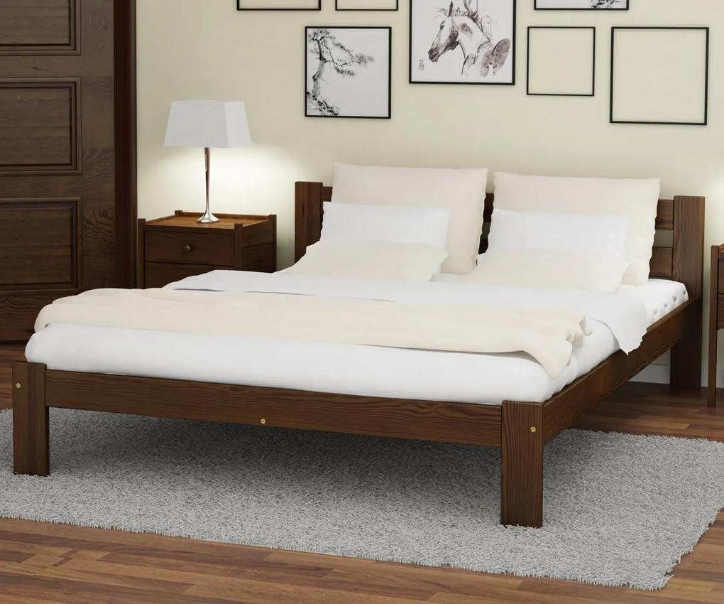 AMI nábytok Postel ořech Akio VitBed 120x200cm + Matrace Heka 120x200